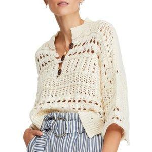 Free People | Dreams Tonight Crop Sweater | Ivory
